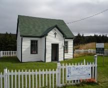 Exterior photo, main facade, St. Joseph's Chapel, Blackhead, St. John's, Newfoundland, July 2004.; HFNL 2005