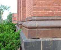 Colchester Historical Museum, iron pilaster bases, 2004; Heritage Division, NS Dept. of Tourism, Culture and Heritage, 2004