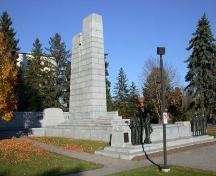 View of the Brant County War Memorial from the southwest, 2004.; Department of Planning, City of Brantford, 2004.