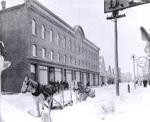 Showing Holman's Store in winter, c. 1910; Wyatt Heritage Properties, Acc. 018.69