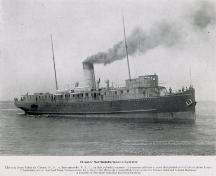Showing the steamer Northumberland, c. 1900; Souvenir View Album of PEI