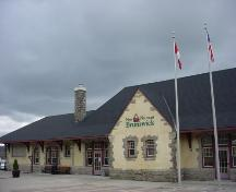 This image shows the former entrance of the station.; Town of St. Stephen