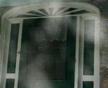 This image shows a view of the fanlight; Town of St. Stephen