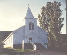 View of main facade, St. Patrick's Church, Woody Point, NL.; HFNL 2005