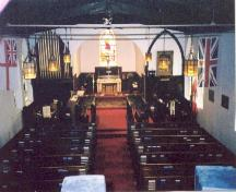 Christ Church interior from balcony 1998; OHT, 1998