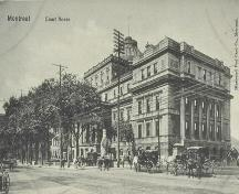 Montreal. Court House. Illustrated Post Card Co., Collection: BNQ, CP 2701; Bibliothèque et Archives nationales du Québec