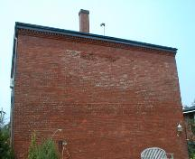 This image shows the rear façade of the building, 2007.; Province of New Brunswick