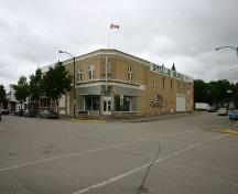 Primary elevations, from the southwest, of the Smellie Bros. and Co. Store, Russell, 2004; Historic Resources Branch, Manitoba Culture, Heritage, Tourism and Sport, 2005