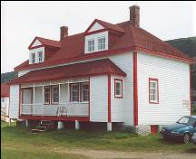 Exterior photo, main facade of the Lightkeeper's Residence, Cape Anguille, Newfoundland.; HFNL 2005