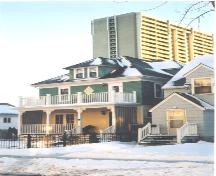 Northeast view of Sarah McLellan Residence taken from 84 Avenue,  March, 2004; City of Edmonton, 2004