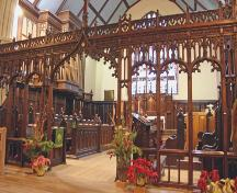 Interior view of St. Luke's Anglican Church, Winnipeg, 2007; Historic Resources Branch, Manitoba Culture, Heritage, Tourism and Sport, 2007