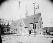 Historic view showing little change to appearance of church c. 1897; William James [Photograph], c. 1897, PA-009061, Library and Archives Ontario