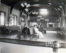 Interior view of the waiting room; Cobalt Mining Museum, Accession #C838-E