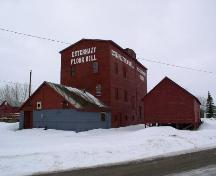 View of exterior of Esterhazy Flour Mill in winter, 2004.; Government of Saskatchewan, Bernard Flaman, 2004
