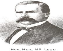 Judge Neil MacLeod, PEI Premier (1889-1891); Meacham's Illustrated Historical Atlas of PEI, 1880