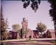 Exterior of Old St. Paul's Church and rectory – 1959; Archives of Ontario