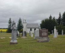 view of the chapel and cemetery, 2004; Government of Saskatchewan, Brett Quiring, 2004