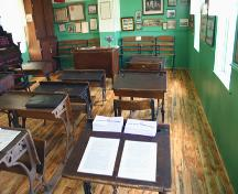Interior view of Star Mound School, Snowflake area, 2006; Historic Resources Branch, Manitoba Culture, Heritage, Tourism and Sport, 2006