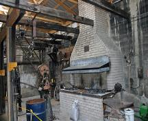 Interior view of the Amos Blacksmith Shop, Waskada, 2007; Historic Resources Branch, Manitoba Culture, Heritage, Tourism and Sport, 2007