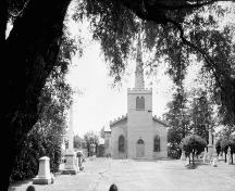 View through the front of cemetery to the façade - 1925; Meredith, Colborne Powell, [Photograph], c. 1925, PA-026813, Library and Archives Canada