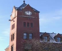 Detailed view of the Waterloo Post Office's restored clock and tower, 2007.; Lindsay Benjamin, 2007.