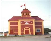Exterior view of front facade, The Parish Hall (Trinity, NL); HFNL 2005