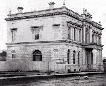 Hamilton Custom House upon construction; William Notman (photographer)/Library and Archives Canada/PA-164441