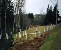 Showing cemetery on south side of highway; PEI Genealogical Society, 2006
