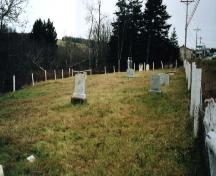 Cemetery looking west; PEI Genealogical Society, 2006