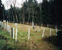 Cemetery looking east; PEI Genealogical Society, 2006