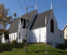 South elevation with east profile, Christ Anglican Church, New Ross, Nova Scotia.; Heritage Division, Nova Scotia Department of Tourism, Culture and Heritage, 2008