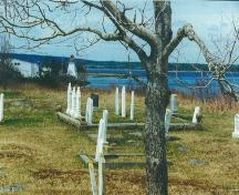 Old Port Medway Cemetery, Port Medway, NS, 200.  Looking toward Port Medway Lighthouse.; Port Medway Cemetery Committee 2000