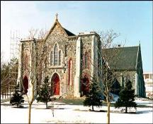 Exterior photo, main facade, Cathedral of Immaculate Conception, Harbour Grace.; HFNL 2005