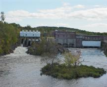 The hydroelectric power station at Salmon Falls; Town of St. Stephen