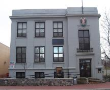 View of the front facade of the Corner Brook Public Building, Corner Brook, NL.; Heritage Foundation of Newfoundland and Labrador, 2005