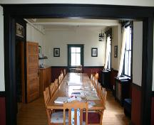 Interior view of the main-floor east large room, looking north in the Grey Nuns' Convent, St. Francois Xavier, 2005; Historic Resources Branch, Manitoba Culture, Heritage, Tourism and Sport, 2005
