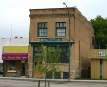 View of main facade of the Union Bank Building, Hamiota, 2005; Historic Resources Branch, Manitoba Culture, Heritage, Tourism and Sport, 2005