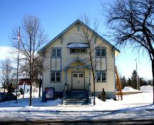 View of main elevation, of the Manitou Town Hall, Manitou, 2005; Historic Resources Branch, Manitoba Culture, Heritage, Tourism and Sport, 2005