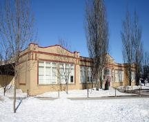 View of main elevation from the southwest of Maple Leaf School, Morden, 2005; Historic Resources Branch, Manitoba Culture, Heritage, Tourism and Sport, 2005