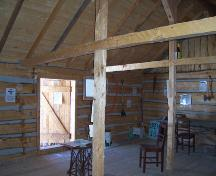 Interior view of the northwest corner of Satterthwaite House, McCreary area, 2005; Historic Resources Branch, Manitoba Culture, Heritage, Tourism and Sport, 2005