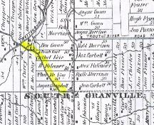 Highlighted section with heritage designation; Meacham's Illustrated Historical Atlas of PEI, 1880