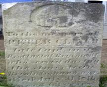 Tombstone of Capt. Peter Clinch; Town of St. George