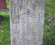 Tombstone of Col. Hugh McKay; Town of St. George