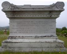 Photo of the family gravestone for Senators Arthur and Daniel Gillmor; Town of St. George