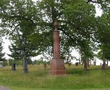 Image showing an example of a monumental red granite gravestone; Town of St. George