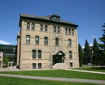 View of the south elevation of Brandon College & Clark Hall, Brandon, 2005; Historic Resources Branch, Manitoba Culture, Heritage, Tourism and Sport, 2005