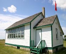 Primary elevations, from the northeast, of Eunola School, Tilston area, 2006; Historic Resources Branch, Manitoba Culture, Heritage, Tourism and Sport, 2006