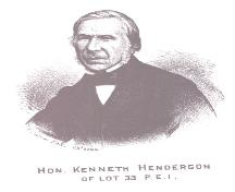 Engraving of Hon. Kenneth Henderson (1811-1893); Meacham's Illustrated Historical Atlas of PEI, 1880