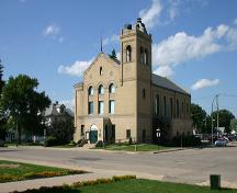 View from the southwest of the Dauphin Town Hall, Dauphin, 2005; Historic Resources Branch, Manitoba Culture, Heritage, Tourism and Sport, 2005