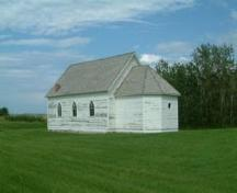 Side view of Moe Lutheran Church, 2008.; Winkel, 2008.
